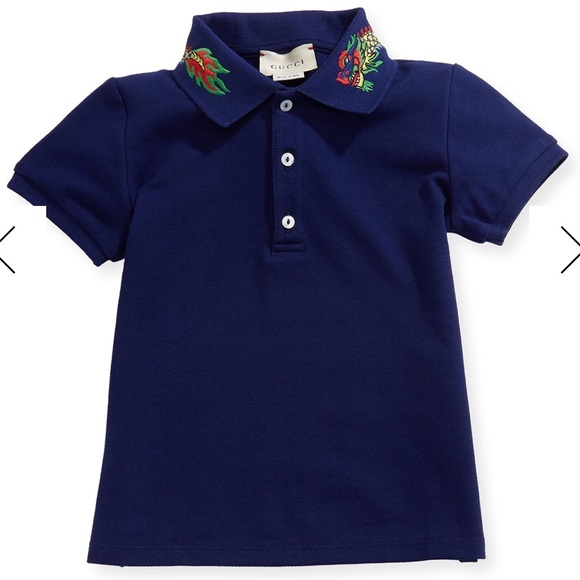 9b90f359 Gucci Shirts & Tops | Final Markdown Boys Ss Dragon Polo | Poshmark